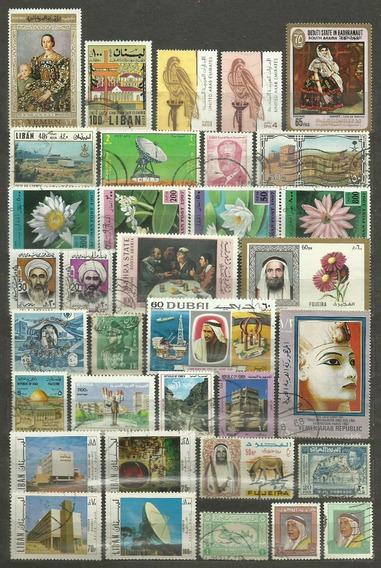 Coleção Países Arabes Israel Egito 444 Selos Frete Grátis