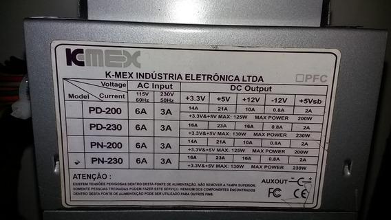 Fonte Mini Atx Kmex 230w Sfx V3.1 Pn-230 Usada