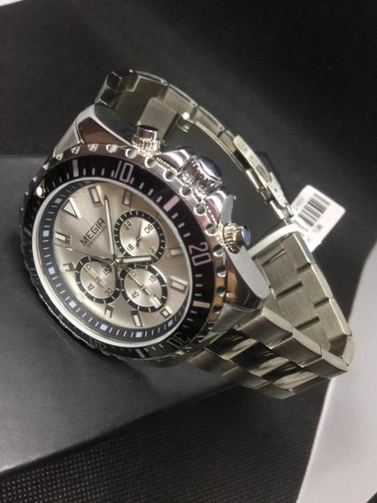 Relógio Megir Aaa 100% Funcional Prova D