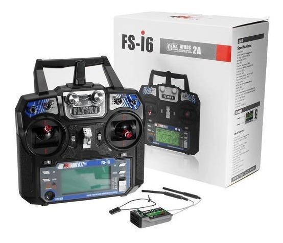 Rádio Flysky Fs-i6 2.4g Afhds Com Receptor Avião Heli Drone