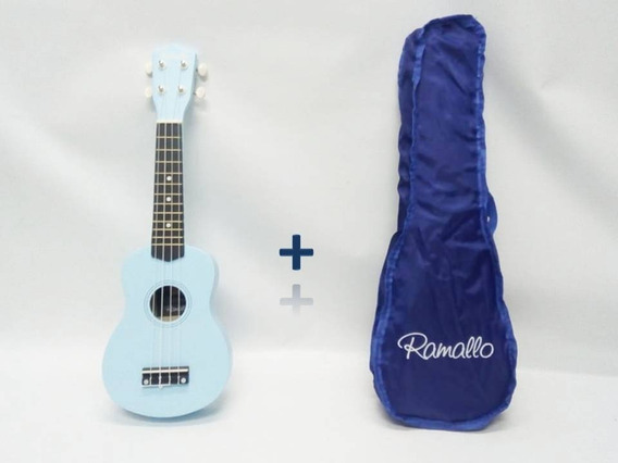 Ukelele Soprano Ramallo Color Turquesa + Funda De Regalo