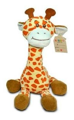 Girafa Sentada De Peluche De 33cm