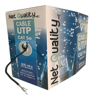 Rollo Cable Utp Exterior Categoria 5e 305 Metros 4 Pares