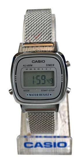 Relógio Casio Digital Feminino Mini La690wem Frete Gratis