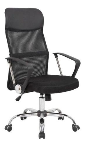 Imagen 1 de 3 de Silla de escritorio Shremwood XX023A  negra con tapizado de mesh