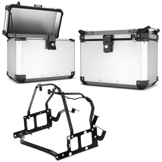 Bau Lateral Side Case Roncar Alumínio + Suporte Bmw 800 Gs