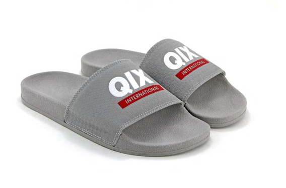 Chinelo Slide Qix Original Cinza