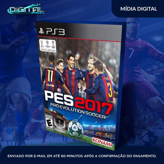 Pro Evolution Soccer 2017 Ps3 Midia Digital Em 10 Min!