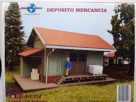 Deposito Mercancia De Trenes P/armar - Alta Calidad (h0)