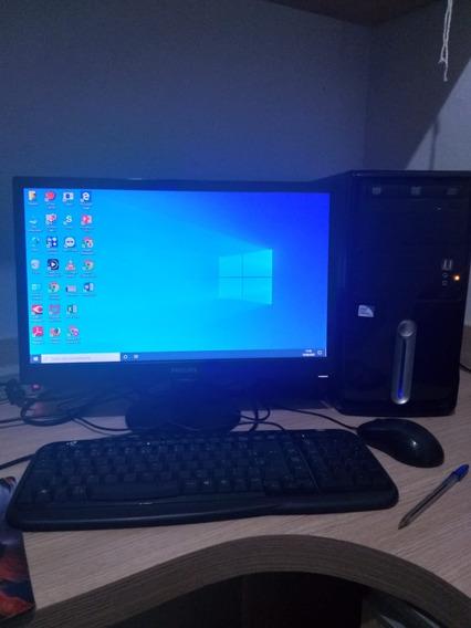 Cpu Completa Intel Celeron, Teclado, Mouse, Monitor E Win 10
