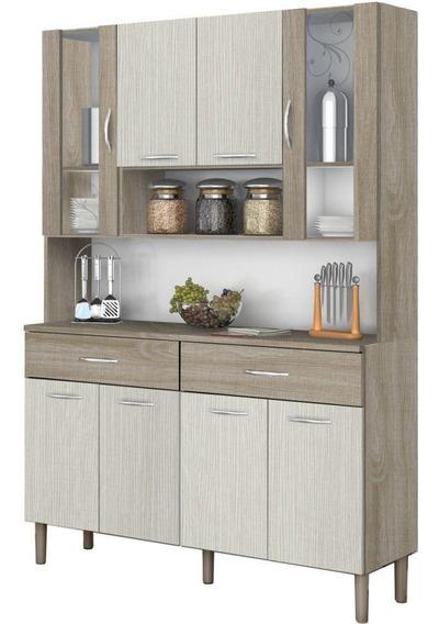 Cozinha Compacta Kits Paraná Golden 8861 8 Portas 2 Gavetas