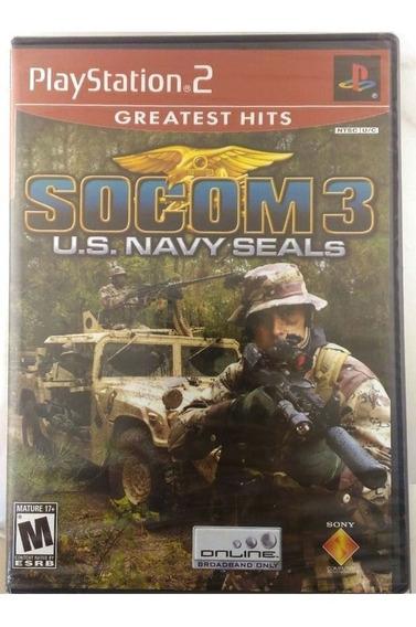 Socom 3 Para Ps2 Us Navy Seals Novo Físic Frete Grátis A8391