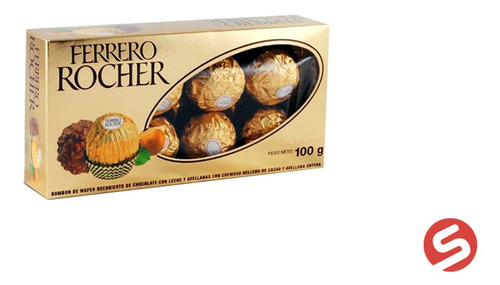 Imagen 1 de 1 de Ferrero Rocher T-8 8pz