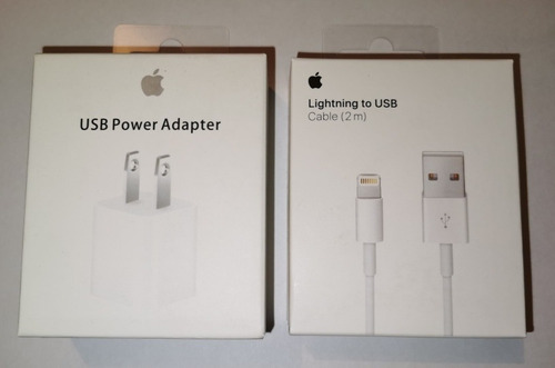 Cargador Para iPhone + Cable 2 Metros Lighting Original 100%