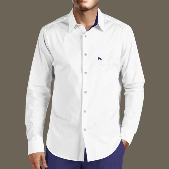Camisa Social Masculina Lobo Branco Vip Corte Italiano