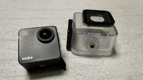 Mokacam 4k, Com Caixa Estanque E Bateria Extra - Alt. Gopro