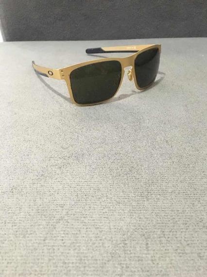Oculos Oakley Holbrook Metal Gold/ Black Iridium (detalhes)