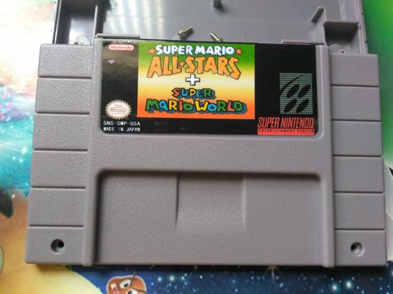Carcaça Super Mario All-stars + Mario World +label+ Parafuso