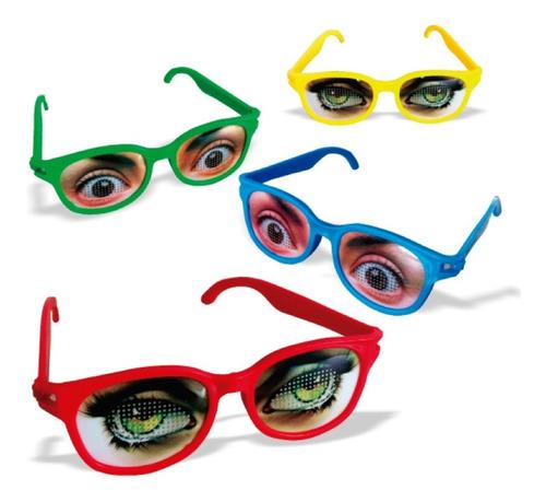 Óculos Para Festa Olhos Kit 8 Unidades