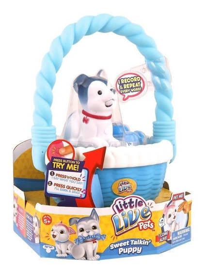 Juguete Interactivo Perro Canasta Little Live Pets