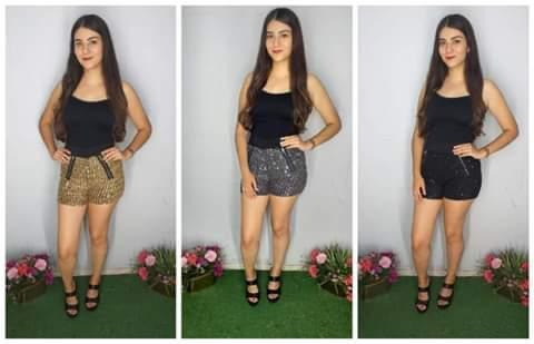 3 Shorts De Lentejuelas Ideal Para Fiestas En 3 Colores