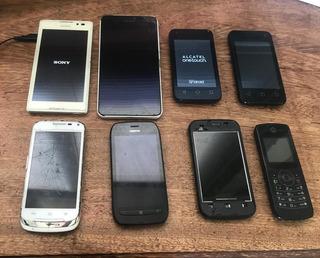 Lote De 8 Celulares Sony Alcatel Motorola - No Estado