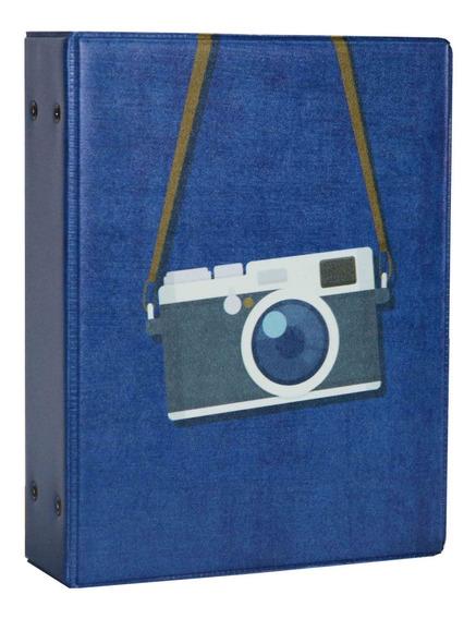 Álbum De Fotos Capa Câmera Fotográfica Para 500 Fotos 10x15
