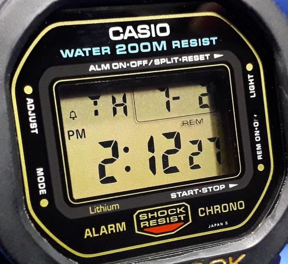 Relógio Casio G-shock Dw 5600 Fundo Rosca Japan Série Ouro