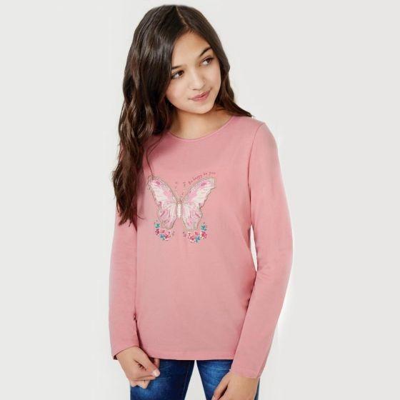 Playera Casual Pink Niña Hb3843