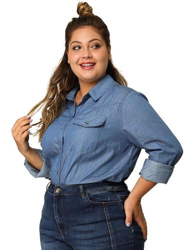 Camisa Jean Mujer Talles Grandes | Mercado Libre