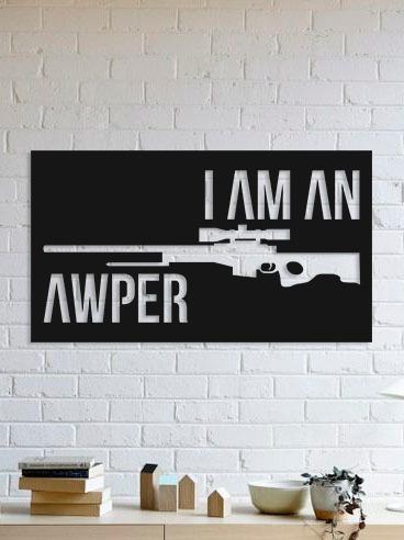 Quadro Decorativo Parede Jogos I Am Awper Cs:go 90cm