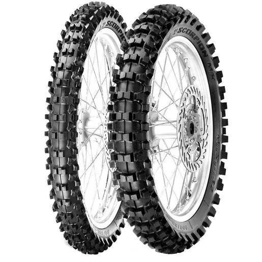 Par Pneu Pirelli 80/100-21 + 100/90-19 Mid Soft 32 Crf/yzf