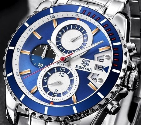 Reloj Benyar Deportivo By-5127m Azul