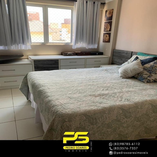 (oportunidade)  Apartamento Com 3 Dormitórios À Venda, 98 M² Por R$ 450.000 - Jardim Oceania - João Pessoa/pb - Ap4570
