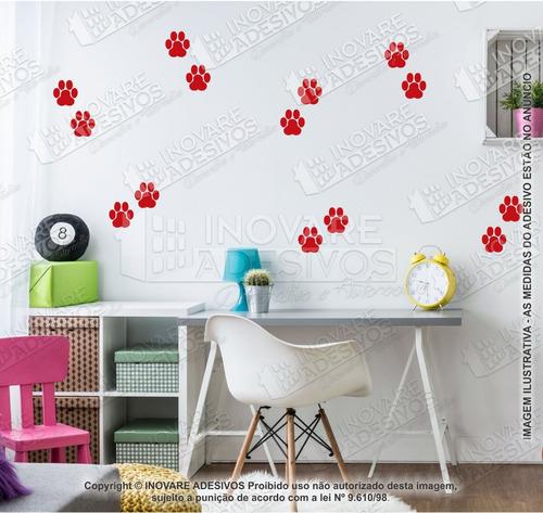 Imagem 1 de 2 de Adesivo Patas Patinhas 45 Und 10cm Cachorro Pet Shop Vitrine