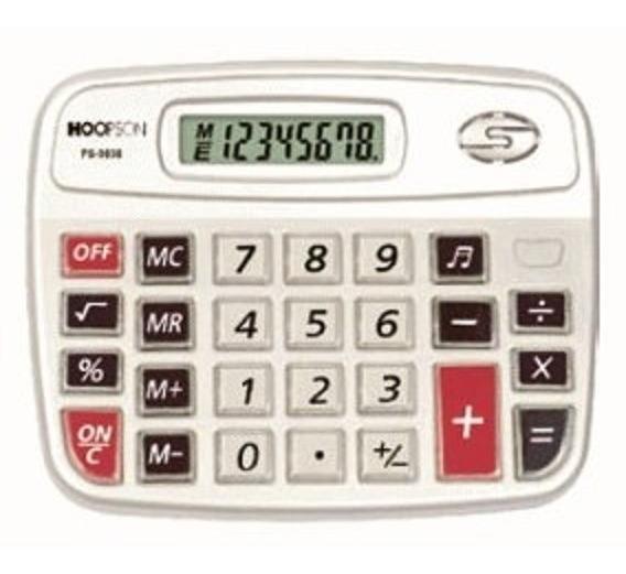 Calculadora De Mesa 8 Dígitos Com Teclas Sonoras Ps-9838