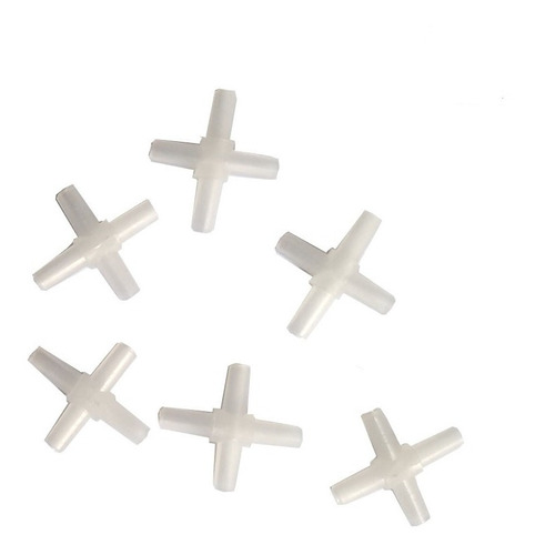 Imagen 1 de 1 de Conector En X De 2x2cm Para Peceras X 10 Unid Blanco