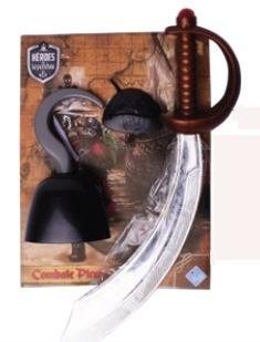 Espada Pirata Con Garfio Heroes Y Leyendas 6948 Fibro