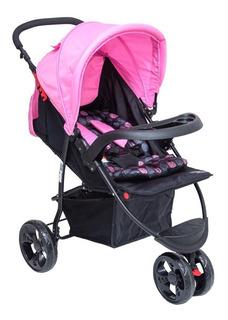 Carrinho Para Bebê Triciclo Urban Baby Style - Rosa