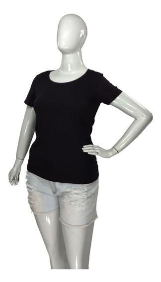Camiseta Baby Look Plus Size Feminina Gola Redonda Malwee