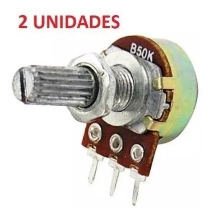 2 X Potenciometro Linear B50k Rotatório