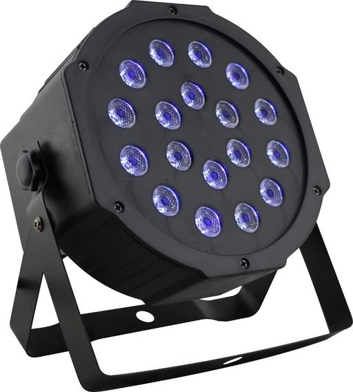 2 Canhão Led 18w Luz Negra Bivolt Cênica Neon Uv Strobo Dmx