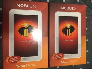 Combo 2 Tablet Noblex Disney T7 A6inc 7 Qcore 8gb