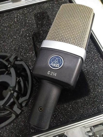 Microfone Akg C214 Original + Brindes