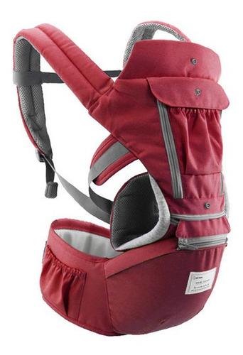 Bolsa Canguru Ergonômico Bebê Vermelha Mamãe 3 Em 1