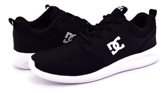 Zapatillas Dc Shoes Midway Sn Black Urbanas Livianas