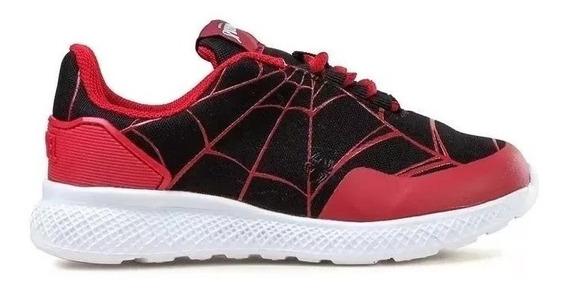 Zapatillas Spiderman Parker Negra/bordo Marvel Fty Calzados