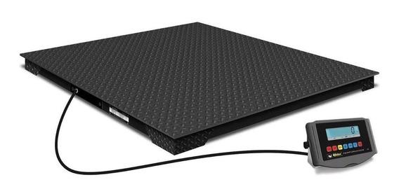 Báscula industrial digital Rhino PLABA-15 3000 kg negro