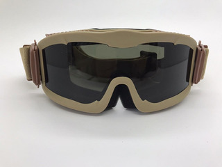 Óculos Tático Goggle Anti-fogging 3 Lentes Airsoft Cor: Tan