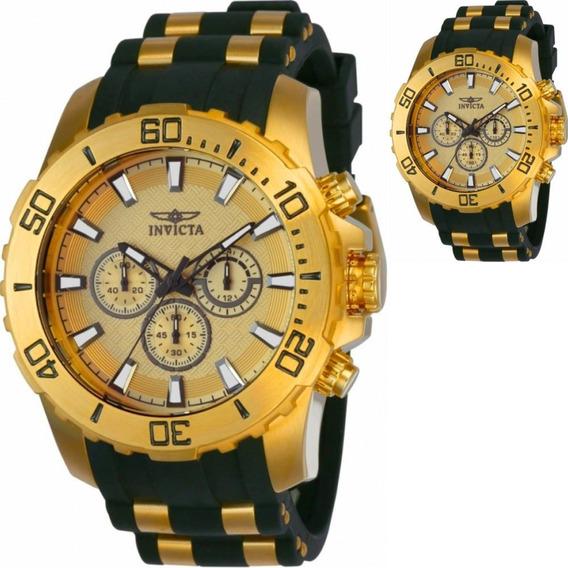 Relógio Invicta Masculino Pro Diver 22558 Ouro Amarelo